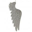 Metall Flügel Aarhus, zum Hängen, H23,5cm, champ